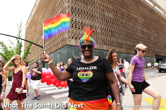 """Paulette Simmonds. """"I'm celebrating the Supreme Court's ruling. To me it means that in the future I can get married to my fiancée. I felt super excited yesterday, blessed and equal. I would have liked to be one of the first to get married here in Nashville (giggles) but that couldn't happen."""""""