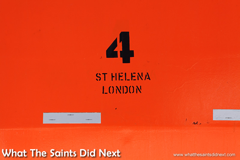 You can't miss these up on the upper decks of the RMS St Helena.