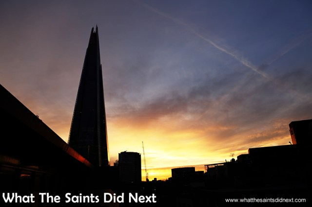 The Shard at sunset - London, photographed in early May 2015.