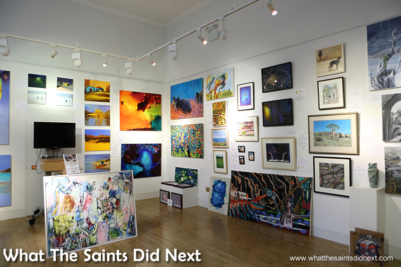 A gallery at the back of the museum exhibits contemporary art covering musicians to landscapes and watercolours to photography.