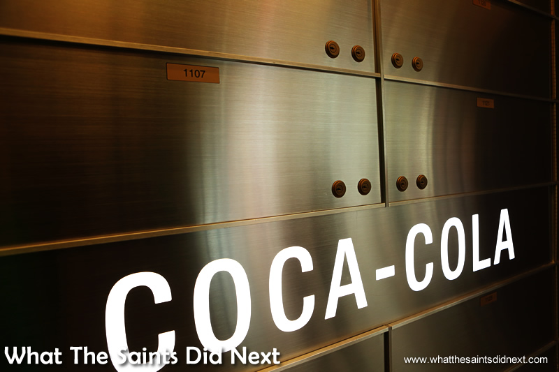 Much of the tour is themed around teasing visitors about discovering the secret recipe of Coca-Cola. Do these safety deposit boxes inside the museum vault hold the ingredients? Hmmm.