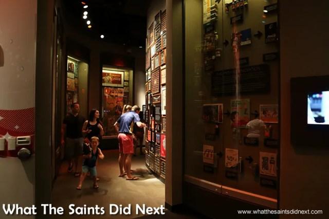 Visitors touring the World of Coca-Cola museum in Atlanta, Georgia.