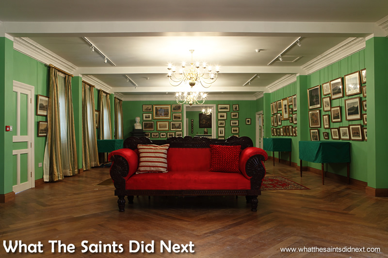 Inside the newly refurbished General's Quarters. Longwood House St Helena.