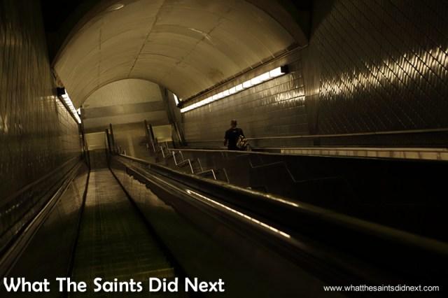 MARTA, Atlanta's underground public transport system - not so crowded.