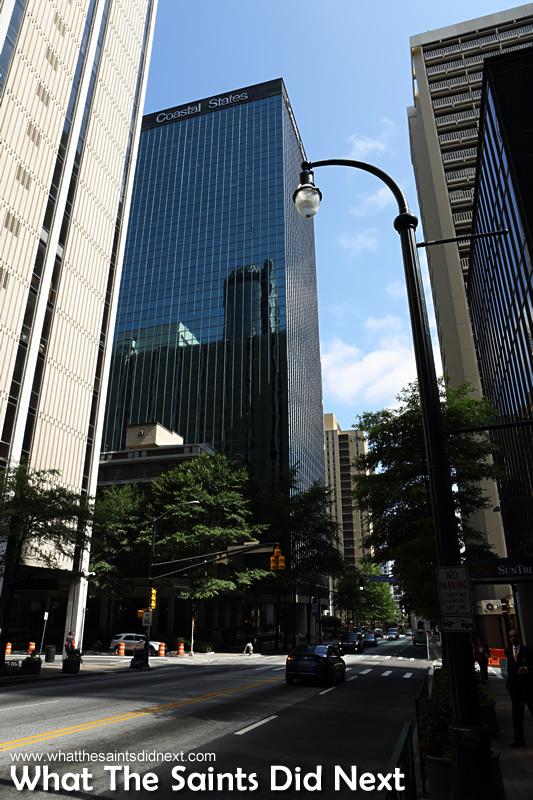 The towering skyscrapers in Downtown, Atlanta.