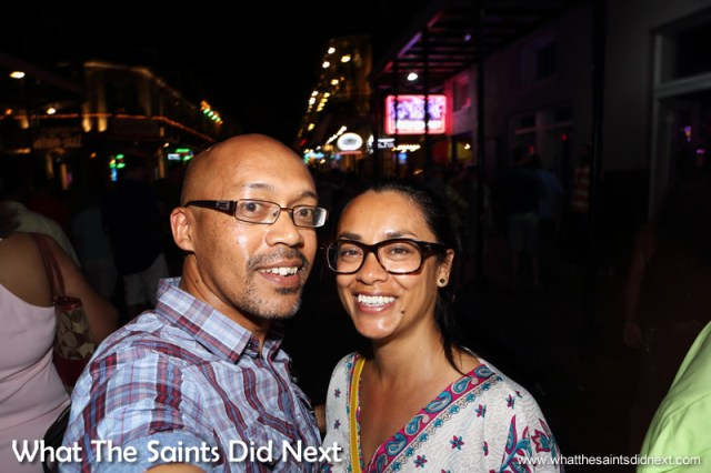 Our own Bourbon Street selfie.