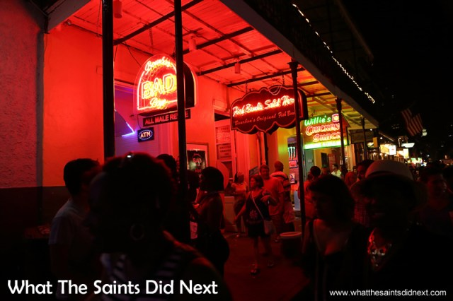 Bourbon Street in New Orleans totally rocks. Don't miss it if you're in the area.