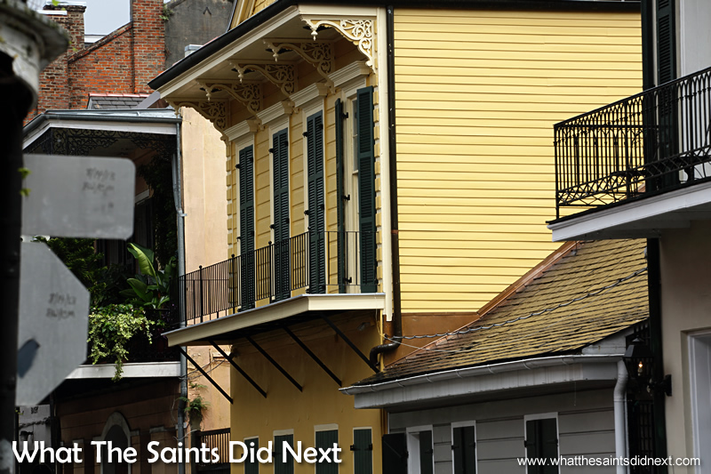 The stunning architecture of the French Quarter in New Orleans.