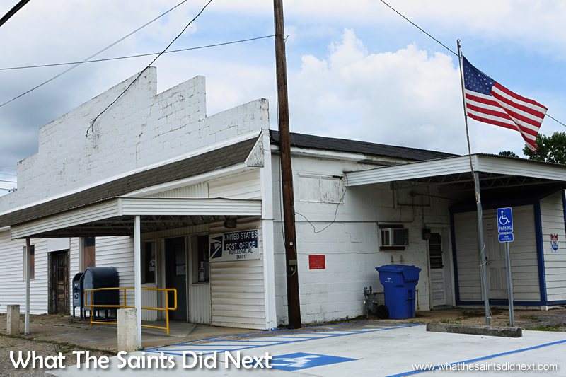 The Rutledge, Alabama post office.