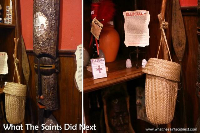 Papa Legba's walking stick in 'Voodoo Authentica.' Voodoo in New Orleans.