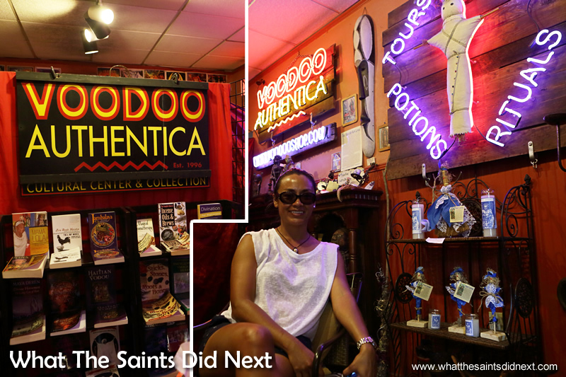 New Orleans Voodoo Museum and shop, 'Voodoo Authentica' where the tour ended.