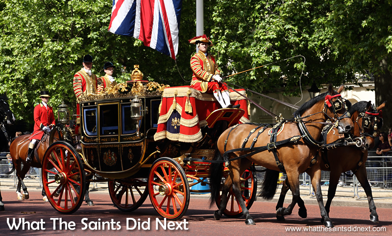 The British Royal Parade is a major tourist attraction for viitors to London.