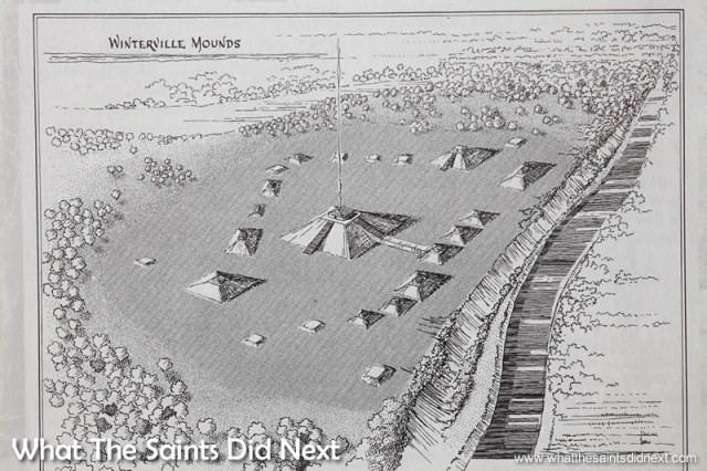 The original mound layout as depicted on the museum brochure.