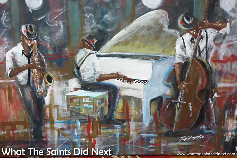 Mississippi Blues Music - a more convential offering, on canvas.