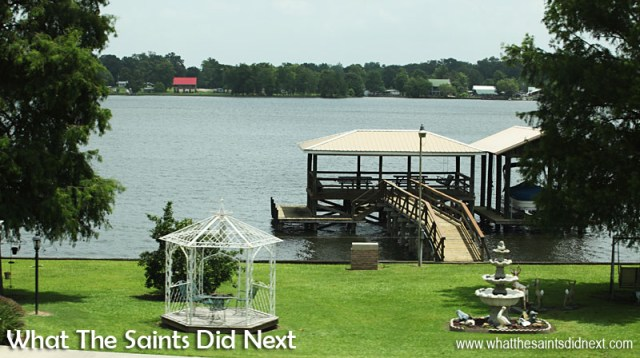Lake front property all around False River in Oscar, Louisiana.