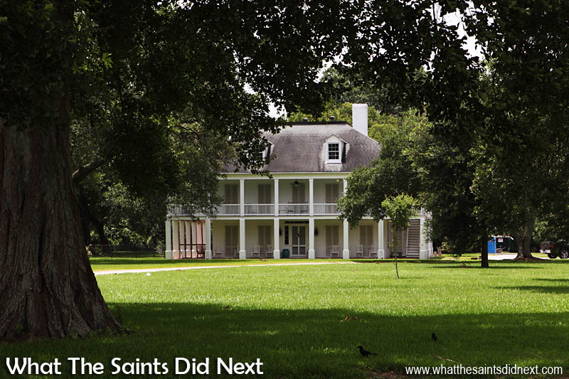 One of the grand homes around False River, Louisiana.