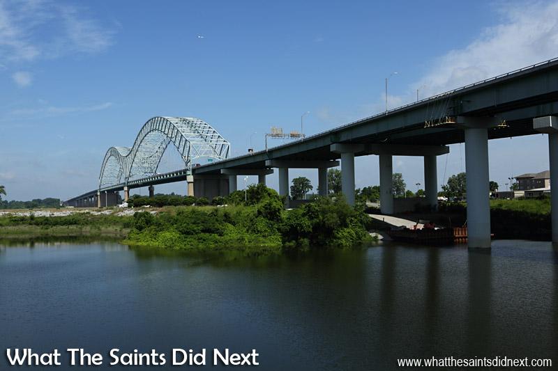 The Hernando De Soto Bridge in Memphis is also known locally as the 'M' Bridge.