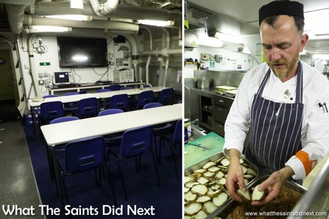Left: Junior mess. Right, Chef Todd.