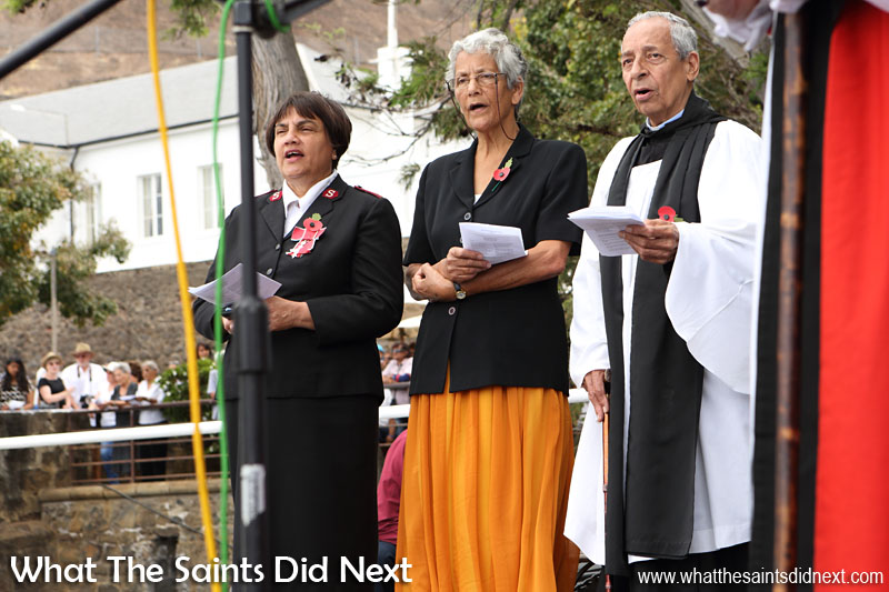 St Helena, Remembrance Day 2015 at the cenotaph, Jamestown.