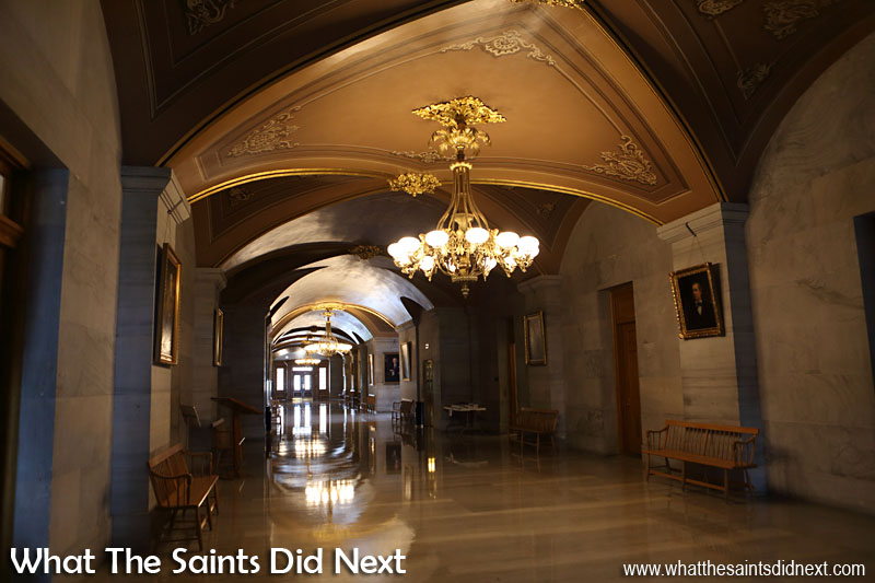 Tennessee State Capitol building - gleaming hallways.