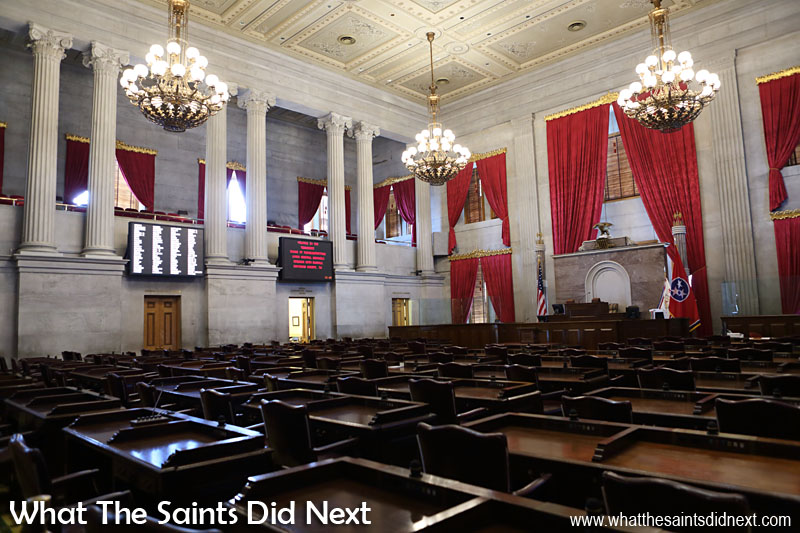 State Legislature: When this place is in session it is the Lower House of the Legislative Branch, the Tennessee State House of Representatives.