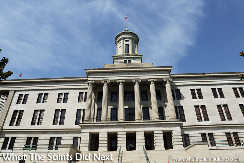 The Tennessee State Capitol building is only one of 12 state capitols in the US that doesn't have a dome.