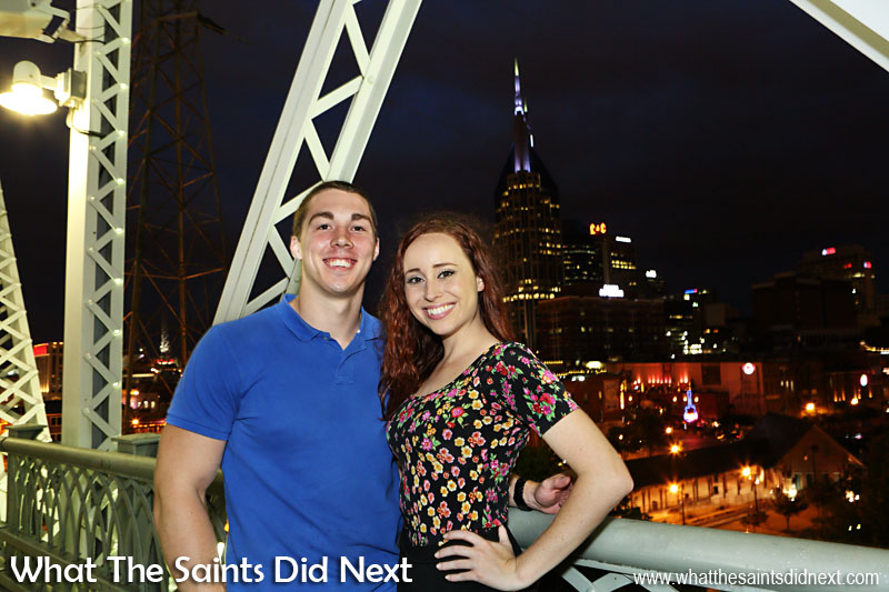 Jeff and Katie who we met on the Shelby Street Bridge, overlooking the city of Nashville. The People of Music City Nashville