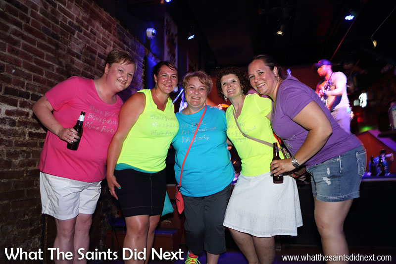 These ladies were out celebrating a 40th birthday.