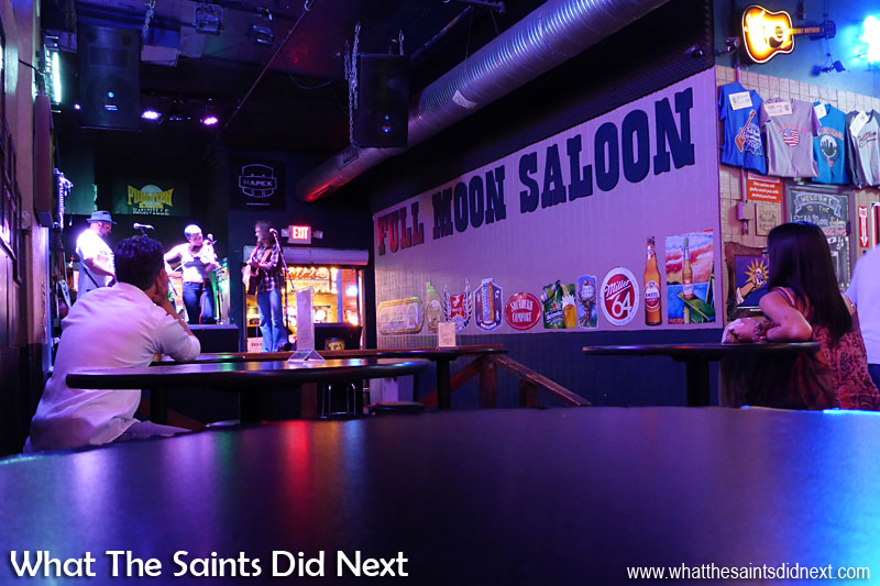The Rische's performing in the Full Moon Saloon Nashville.