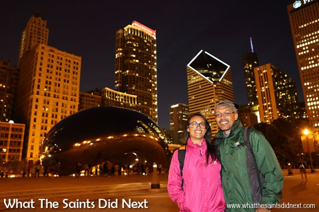 Staying out to see The Cloud Gate that night was worth it. The illuminated Chicago nightscape gave the Bean a whole new look and plenty more fun trying to photograph.