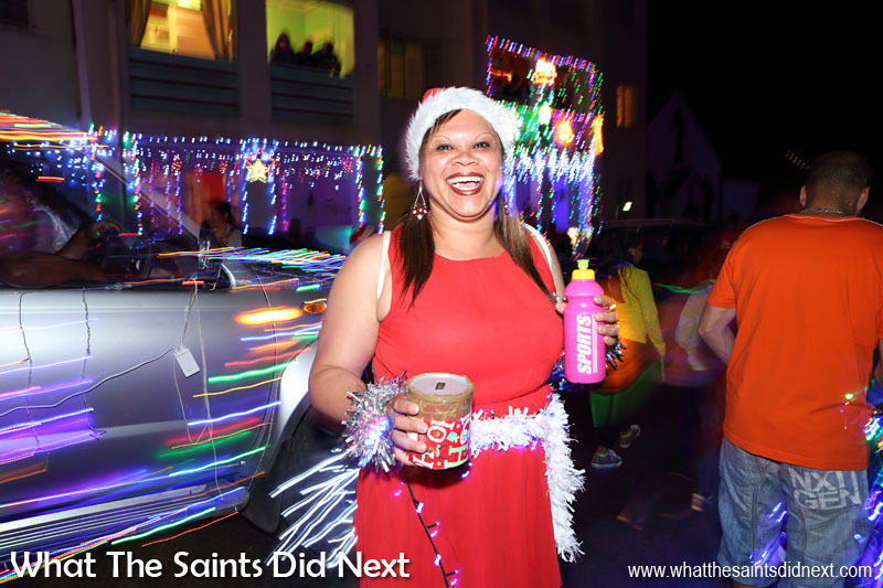 St Helena Christmas street parade the Festival of Lights 2015 - Collections are taken during the parade in aid of Pilling Primary School, who are the event organisers.