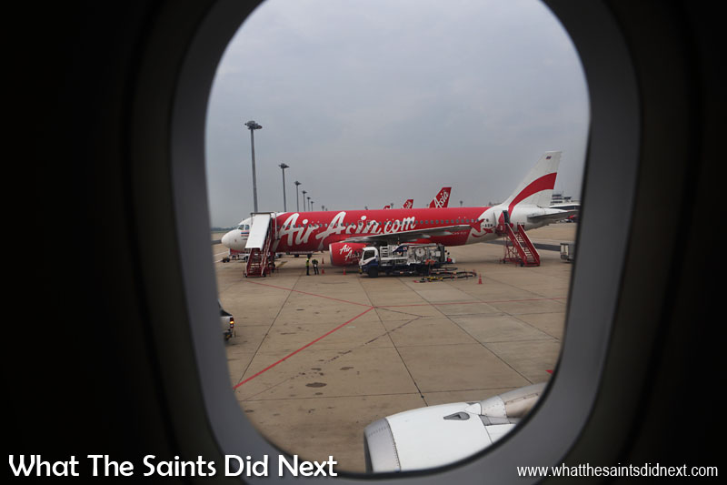 Travelling around Southeast Asia we flew between countries on Air Asia.