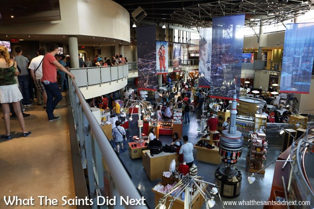 The CN Tower gift shop, located inside the base of the tower.