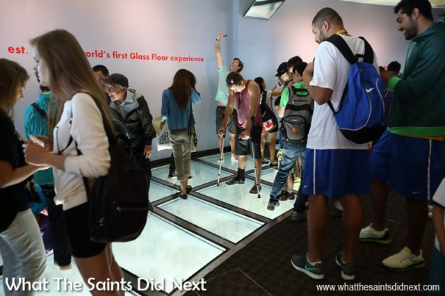 Designed to hold more than 21 metric tonnes, the glass floor on the SkyTerrace of Toronto's CN Tower is a major draw for thousands of people every day.