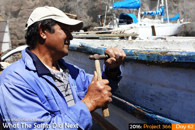 'Old girl' 2 March 2016, 14:22 - 1/1000, f/8, ISO-200 What The Saints Did Next - 2016 Project 366 Fishing boat repairs to 'Blue Fin' on the wharf in Jamestown, St Helena.
