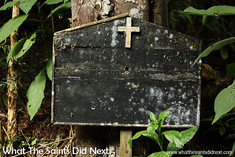 The sign for St Peter's Church in Sandy Bay has been there for a while!