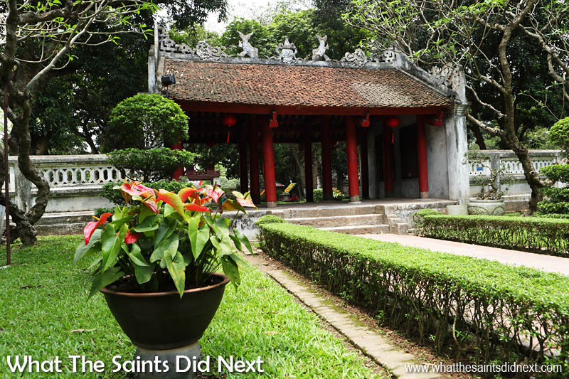 Temple of Literature Hanoi. The 'Great Middle Gate' leads to the second garden courtyard.