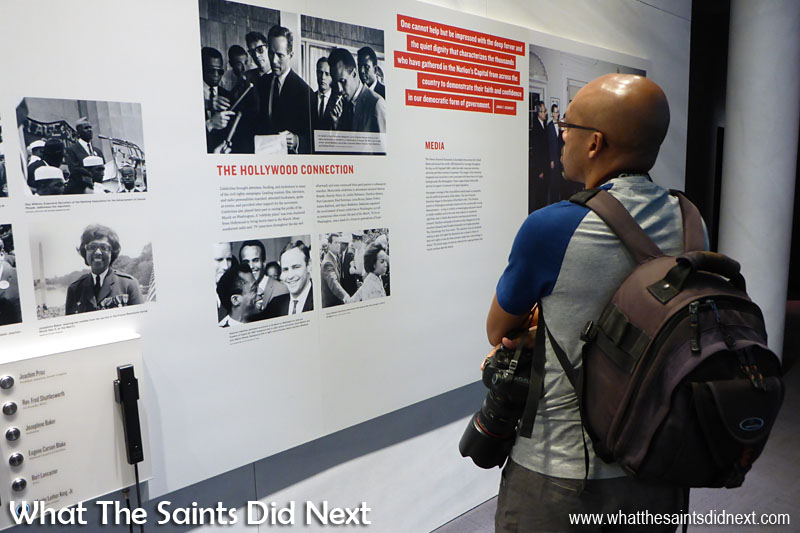 The exhibits inside the Center for Civil and Human Rights are informative and very moving, and are not designed to be rushed, you need to take your time to explore and absorb.