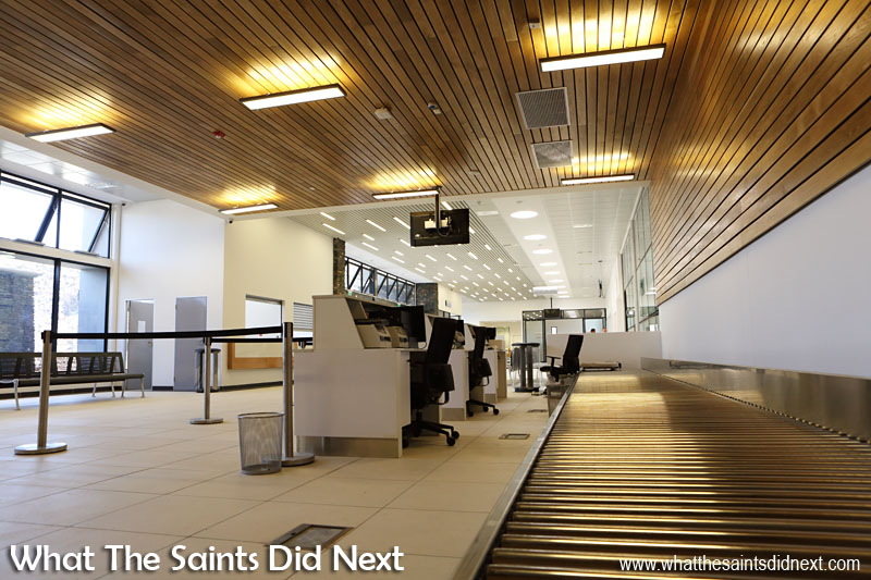 Departures and Check-In Desks on the concourse of the St Helena Airport terminal.