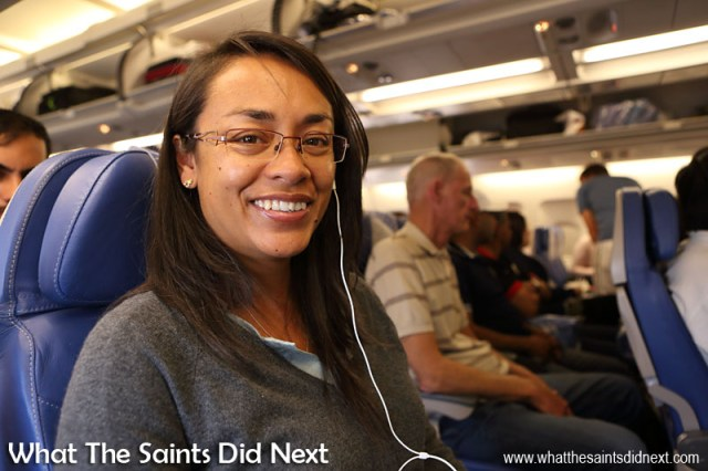What The Saints Did Next flying Gulf Air last year, on a much larger plane than we'll be seeing come to St Helena. This was an overnight flight but the flights in and out of St Helena will all be in daylight hours.