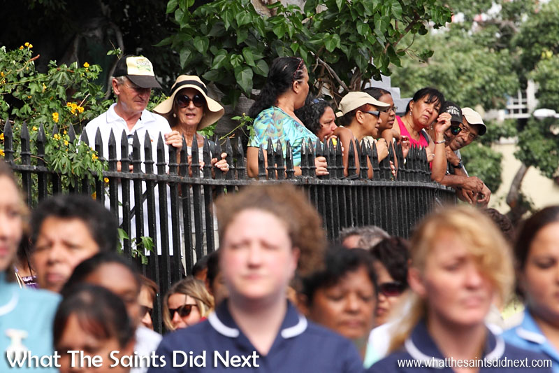 A large turnout filled the Parade Square in Jamestown, everyone keen to catch a glimpse of the new governor and to hear her speech. Inauguration Ceremony of Her Excellency the Governor, Ms Lisa Phillips - Supreme Court Terrace, Jamestown, St Helena.