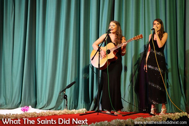 The O'Keeffe sisters sang three songs at Miss St Helena 2016, two of which were originals which they wrote, 'Say The Word' and 'Red Light.'