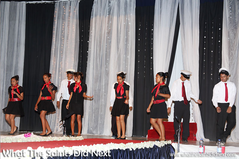 A dance performance, 'Aeroplane' by Prince Andrew School students, part of the Miss St Helena 2016 interval entertainment.