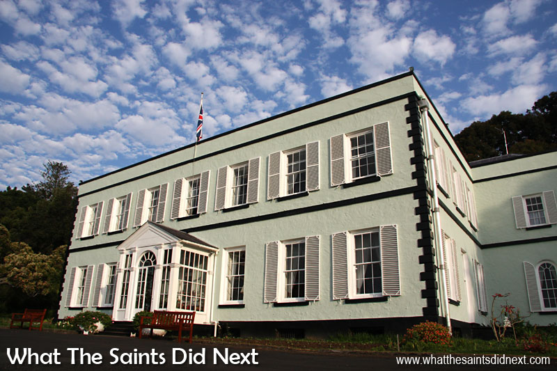 16 Pictures Celebrating St Helena Day 2016. Plantation House, residence of the Governor of St Helena, currently Ms Lisa Phillips.