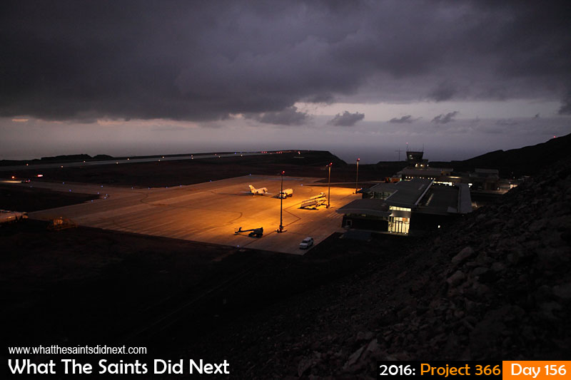 'Ali' 4 June 2016, 06:29 - 1/80, f/3.2, ISO-2000 What The Saints Did Next - 2016 Project 366 St Helena Airport with a Falcon 20 ready to carry out the island's first ever medevac by air.