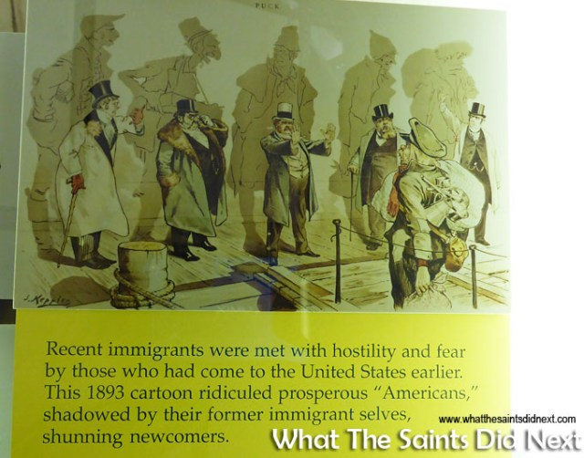 The Steamtown museum is full of fascinating history showing not only the technological journey of the American railroads, but also the social issues of the time, as demonstrated in this powerful 1893 cartoon.