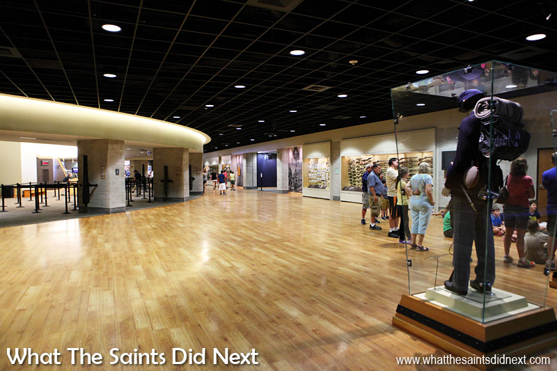 Gettysburg visitor centre - the large open spaces inside.