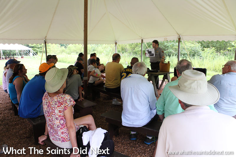 Gettysburg Visitor Centre - a talk about injuries and medical treatments during the American Civil War.