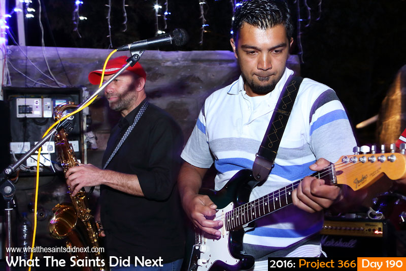 'Estrada'<br /> 8 July, 2016, 19:30 - 1/8, f/8, ISO-800<br /> The Big Easy band performing at the Mule Yard.
