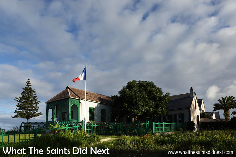 Longwood House, the last abode of Napoleon Bonaparte who lived here for six years until his death in 1821. The house and grounds have been immaculately restored and is now St Helena's premier tourist attraction.